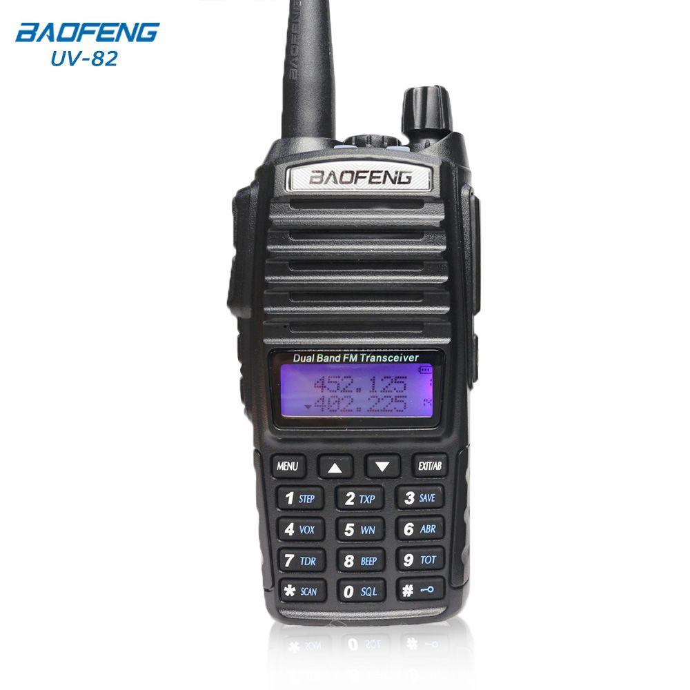 Baofeng UV-82 Talkie Walkie 10 km radio bidirectionnelle Double Bande FM émetteur-récepteur