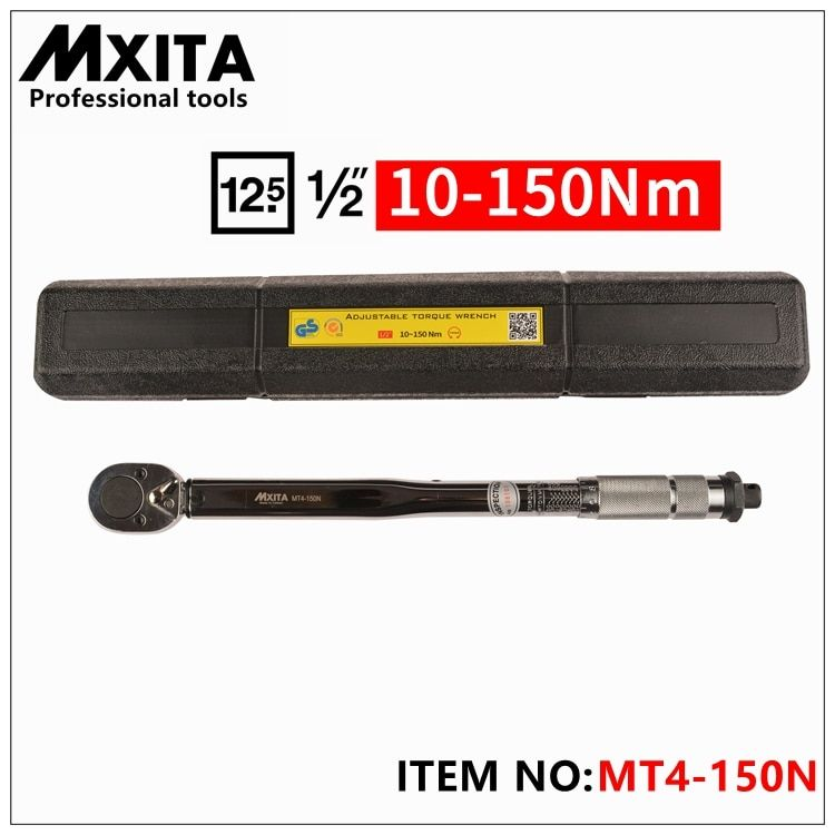 MXITA 1/2 10-150NM professional Torque Wrench Tools Click Adjustable Hand Spanner Ratchet Wrench Tool