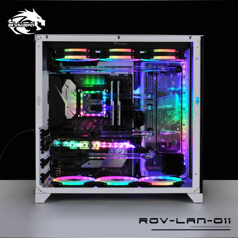 BYKSKI Acrylic Board Water Channel Solution kit use for LIAN LI O11 Dynamic Case / Kit for CPU and GPU Block / Instead reservoir