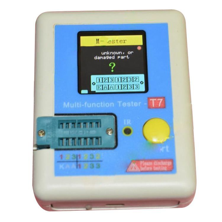 THGS New LCR-T7 TFT Transistor Tester Diode Triode Capacitance ESR Meter LCR MOSFET