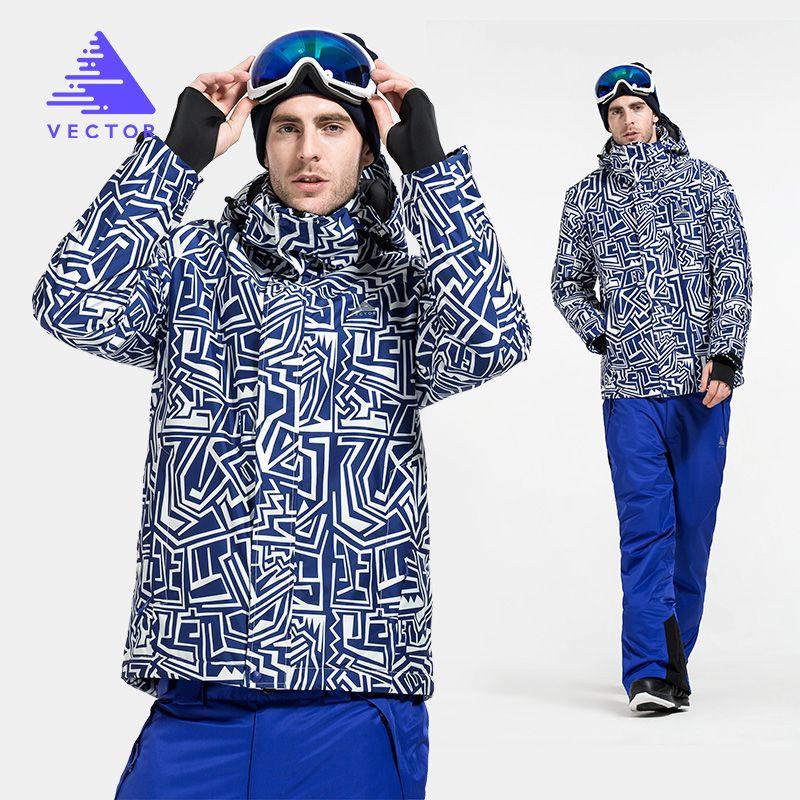VECTOR Warme Winter Ski Anzug Männer Winddicht Wasserdichte Schnee Skifahren Jacke/Hosen Outdoor Snowboard Set HXF70012