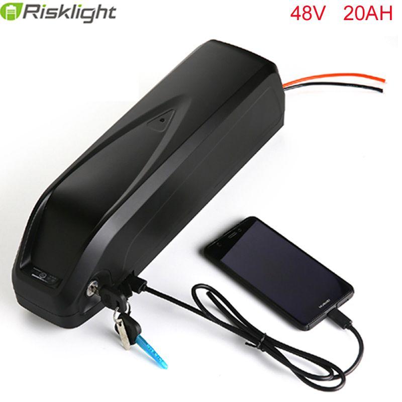 Elektrische fahrrad batterie 48V 20Ah 1000w Li-Ion e-bike batterie pack mit USB Hailong batterie für 48V 750w motor kit