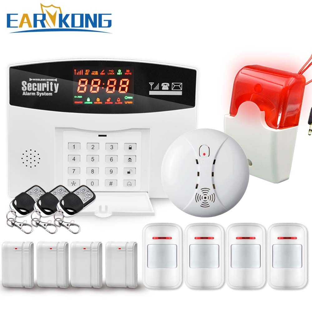 Hot Selling English/Russian/Spanish Wireless GSM Alarm System <font><b>433MHz</b></font> Home Burglar Security Alarm System M2-2, Free Shipping