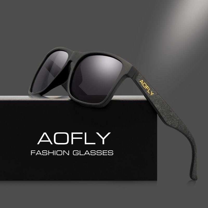AOFLY Vintage Retro Polarized Sunglasses Men Coating <font><b>Mirror</b></font> Driving Sun Glasses Polaroid Lens Square Eyewear Male Goggles AF8058