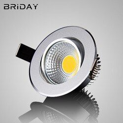 1 unids Super brillante dimmable led downlight COB luz del techo 3 W 5 W 7 W 12 W techo empotrado luces interior Iluminación