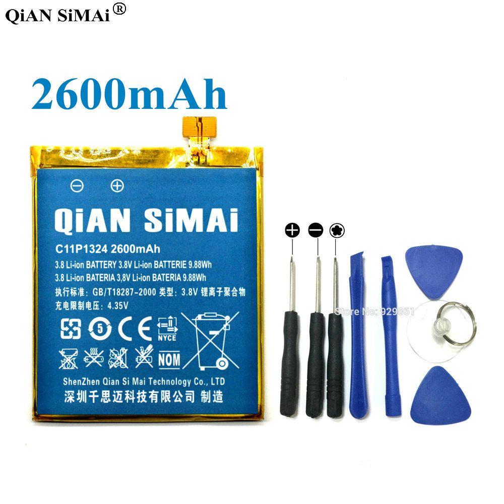 QiAN SiMAi High Quality C11P1324 2600mAh Battery & Screwdriver Tools For ASUS ZenFone 5 A500G Z5 A500 A500CG A501CG A500KL