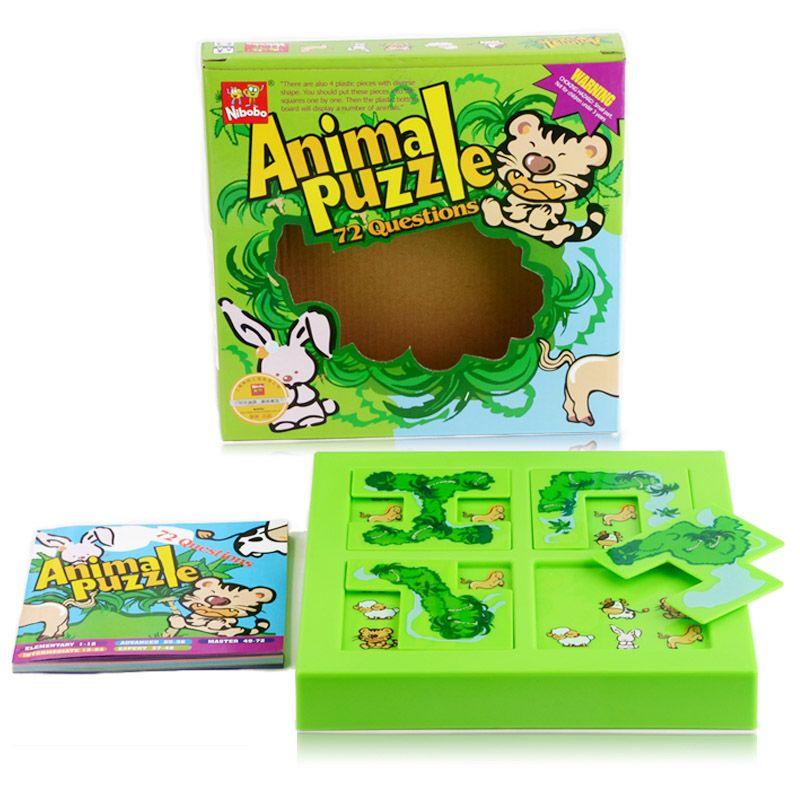 Qualité enfants animaux labyrinthe Puzzle IQ esprit logique cerveau Teaser Puzzles jeu pour enfants 72 Questions