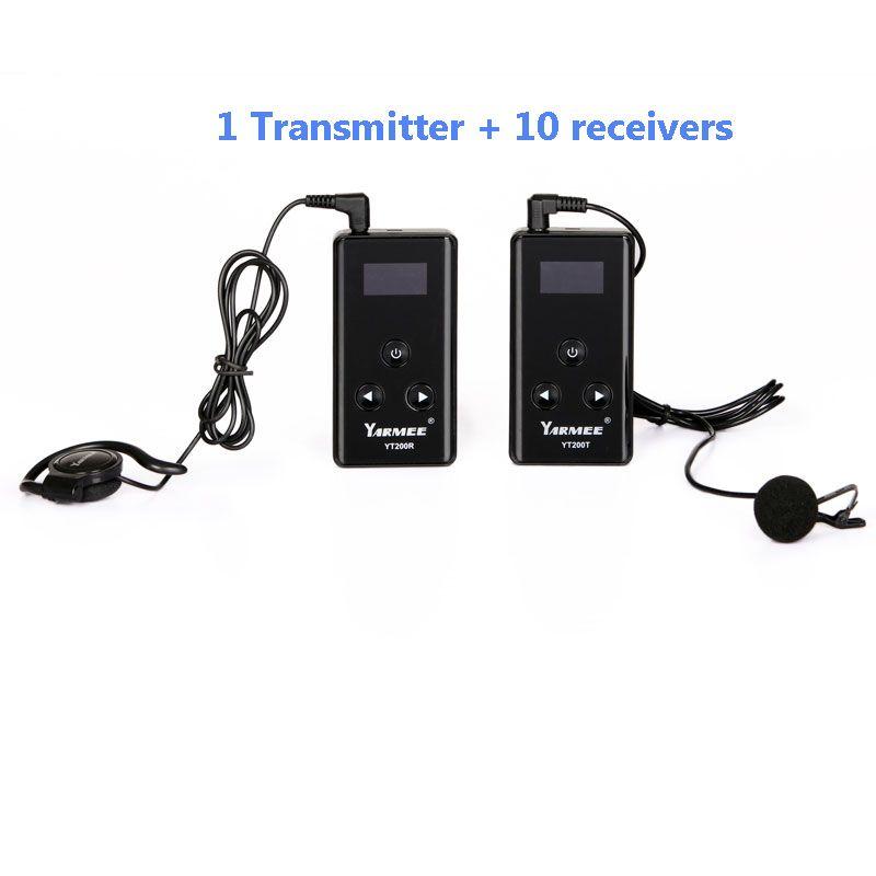 Wireless Tour Guide System Sender Drahtlose Gleichzeitige Übersetzung System für Tour führung 1 sender 10 empfänger YT200