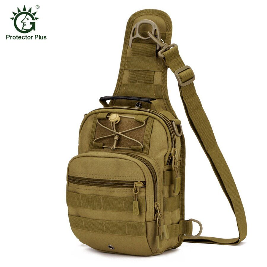 Protector Plus Sport Camping Man Bag Military Tactical Back pack Outdoor Crossbody Bags Hiking Sling Chest Pack Fishing Bag