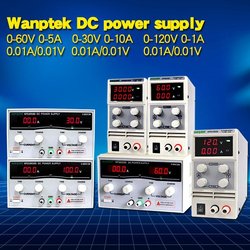 Wanptek 30V 10A LED Display Adjustable Switching dc power supply 120V 3A Laptop Repair Rework 60V 5A Lab power supply