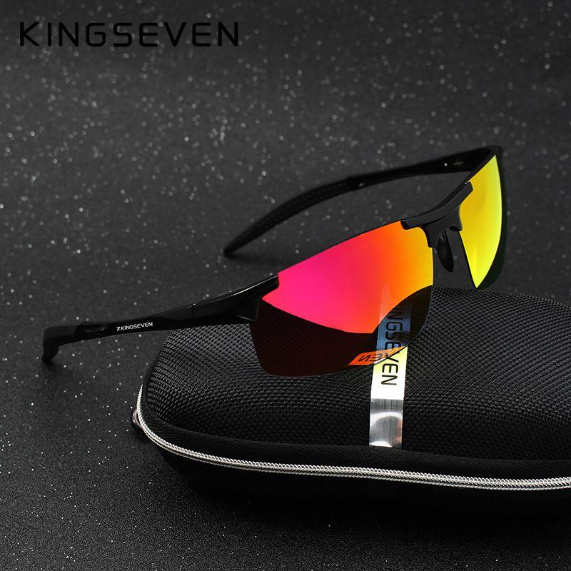 Kingseven Brand Men <font><b>Glasses</b></font> Polarized Coating Sunglasses Men Sun <font><b>Glasses</b></font> Women Goggles Night Vision Driving Sunglass 7523