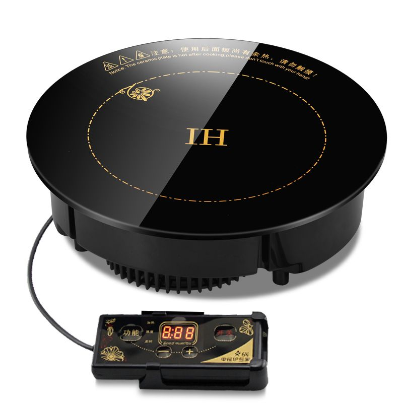 Hot Pot Induction Cooker Circular Commercial Embedded Wire Control Restaurant Hotel Special Induction Cooking Machine 2200W