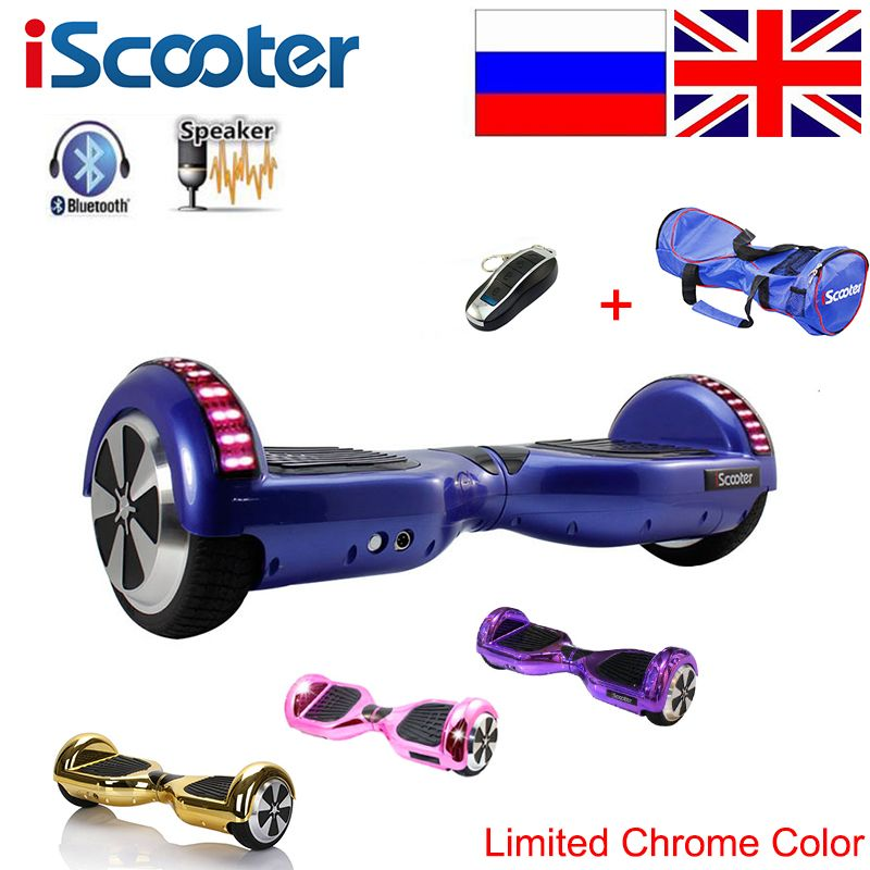 IScooter Bluetooth Hoverboard 2 smart balance rad Elektrische Skateboard Selbst Ausgleich Roller patinete electrico Hover board