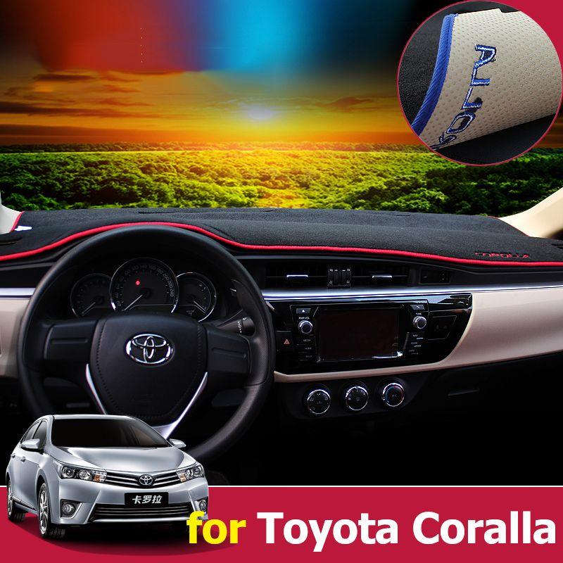 Car Dashboard Cover Dash Mat Sun Shade Dash Board Pad Carpet LHD For Toyota Corolla E140/E150 2006-2013 2014 2015 2016 2017 2018