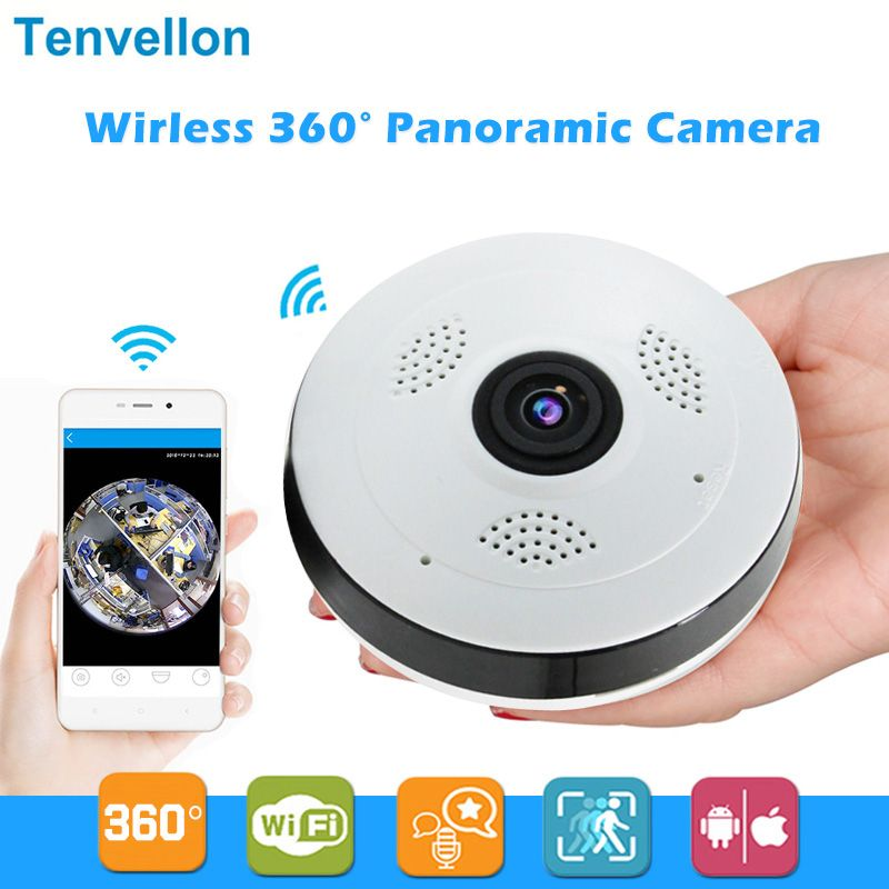 Caméra IP Wi-fi 360 degrés FishEye HD 960P 1.3MP panoramique intelligente IPC P2P caméra IP Fisheye sans fil 1.3MP caméra Wifi de sécurité