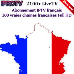 1 année IPROTV IPTV pour Android set top box Arabe Français Abonnement Europe France Arabe IPTV Boîte pk qhdtv NeoTV volka TV pro