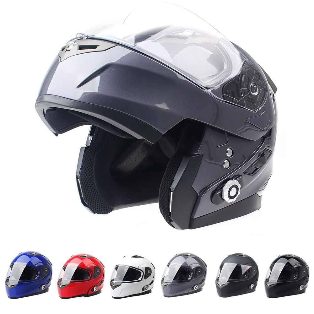 2017 Brand Smart Bluetooth Motorcycle Helmet Built in Intercom System Dot Standard Helmet 3 Riders BT Talking with FM Radio