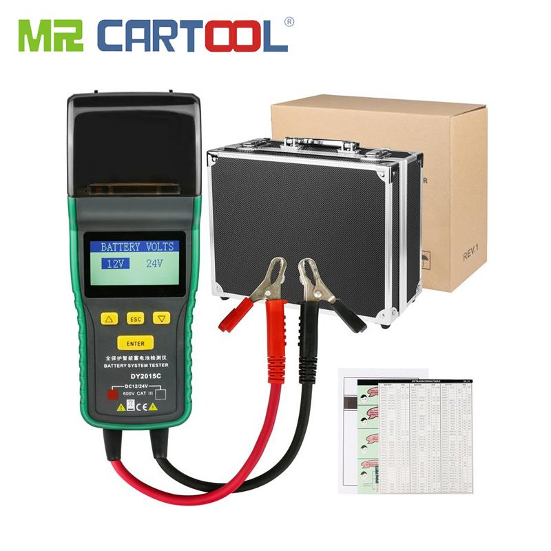 Auto Batterie Tester 12 V 24 V Blei-säure Analyzer Auto CCA 100-1700 SOH 0-100% integrierte Drucker Tragbare Batterie Messung