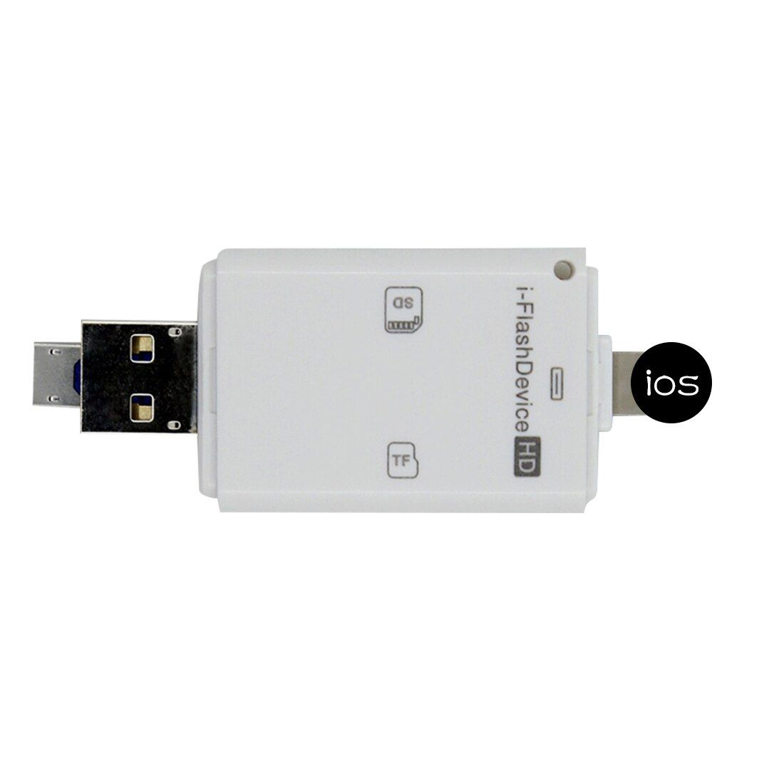Etmakit 3in1 Micro USB Lecteur Micro SD SDHC TF Carte SD Pour iPhone 5/5S/6/6 7 plus/ipad pro air/Samsung/LG/HTC Andrid OTG Téléphones