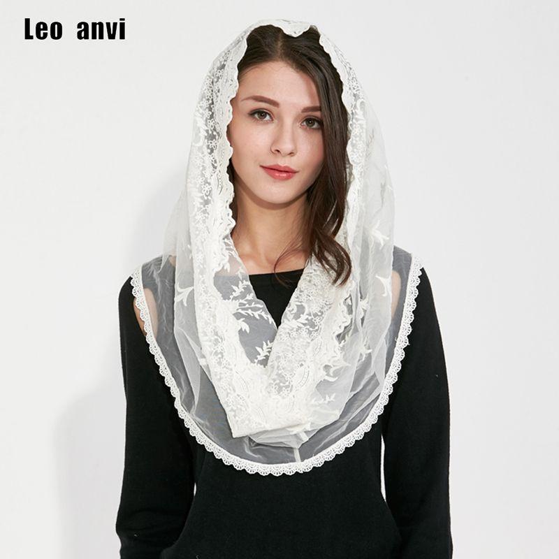 Hijab musulman Jersey pashmina châles inde Femmes écharpe coton dentelle ivoire blanc foulard couverture complète revêtements intérieurs