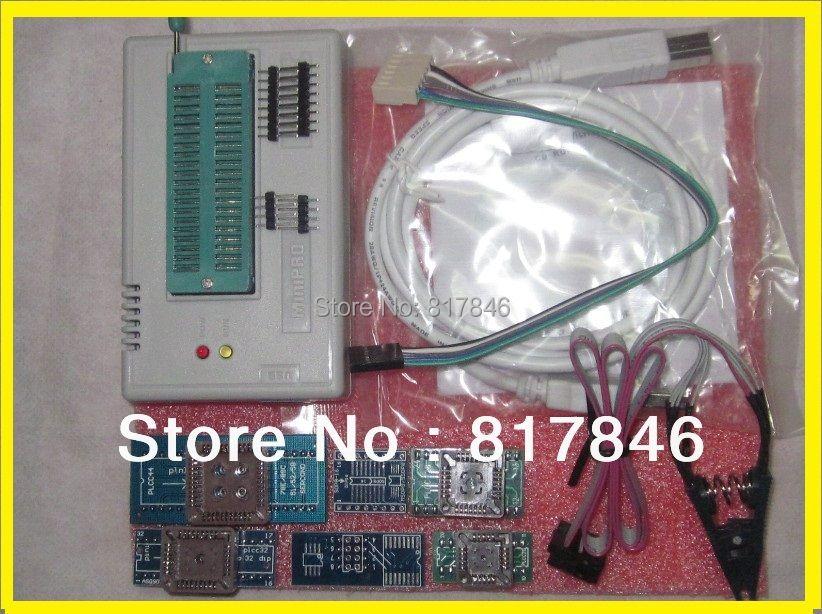 Livraison Gratuite Russe et anglais fichiers V6.6 EEPROM ICSP Haute Vitesse MiniPro USB Universel Programmeur TL866A + 6 adaptateur + IC SOIC8 Clip