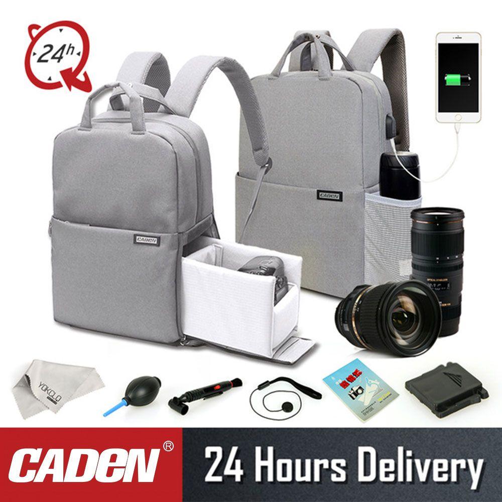 Caden Dslr Kamera Tasche Für Canon Wasserdicht Mochila Fotografia Rucksack Frauen Männer Casual Mode Foto Rucksack Für Canon