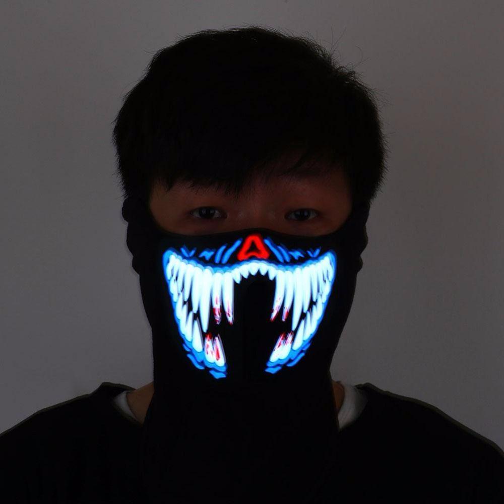 Светящаяся маска флуоресцентный Хэллоуин украшения неоновые украшение партии Хэллоуин LED вечеринок рукоделия