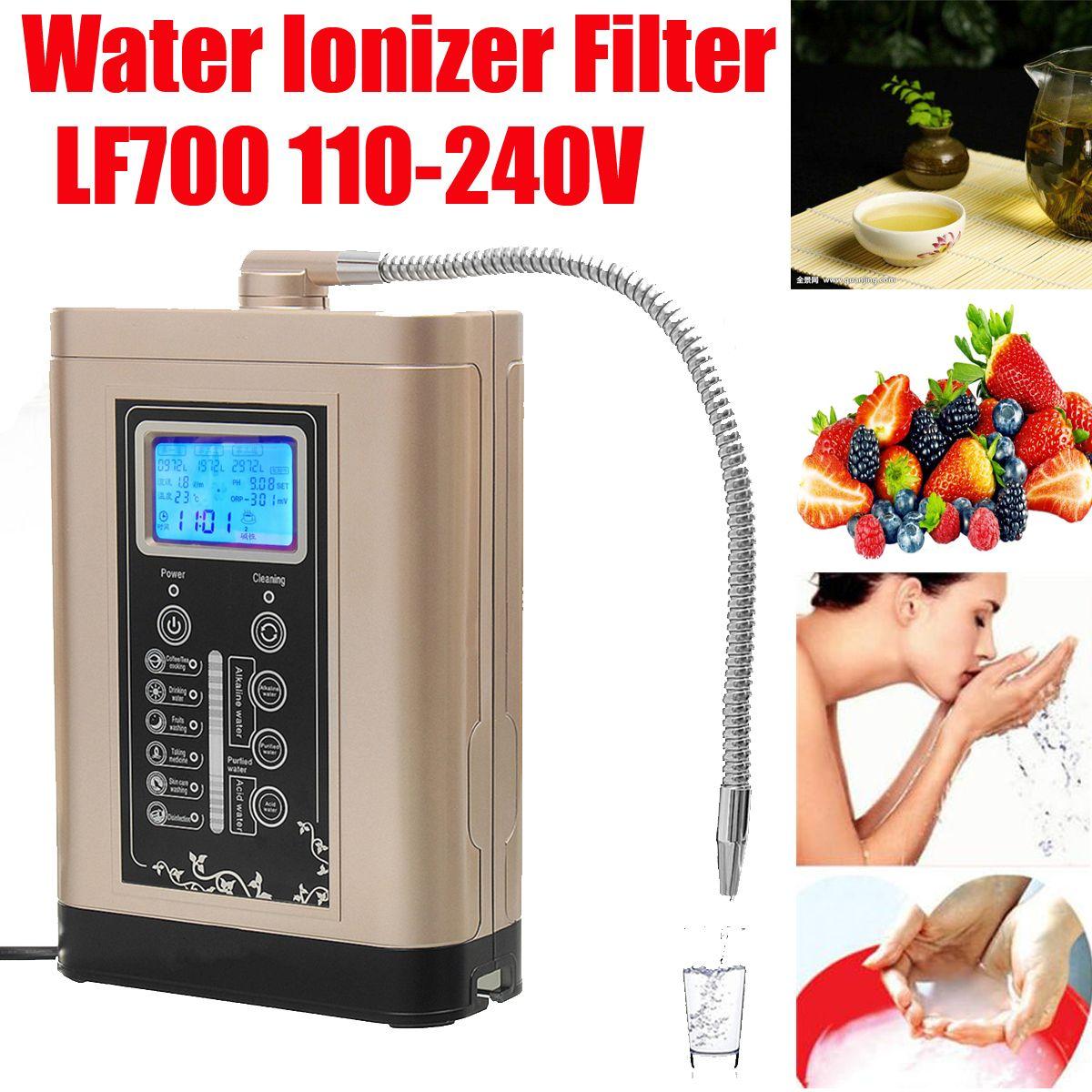 110-240V Steel LF700 Water Ionizer Purifier LCD Tou.ch Control Alkaline Acid PH Adjust Machine AU/US/EU Plug
