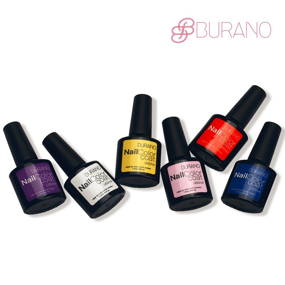 BURANO 6pcs/set uv led soak off gel polish nail gel choose 6 colors from 48 colors nail art tools nail gel polish set