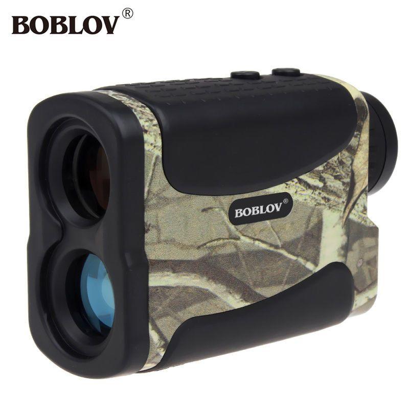 BOBLOV 600 M Laser Range Finder Monoculaire 6x Télescope Multifonction Pour La Chasse Golf Distance Camouflage Télémètre