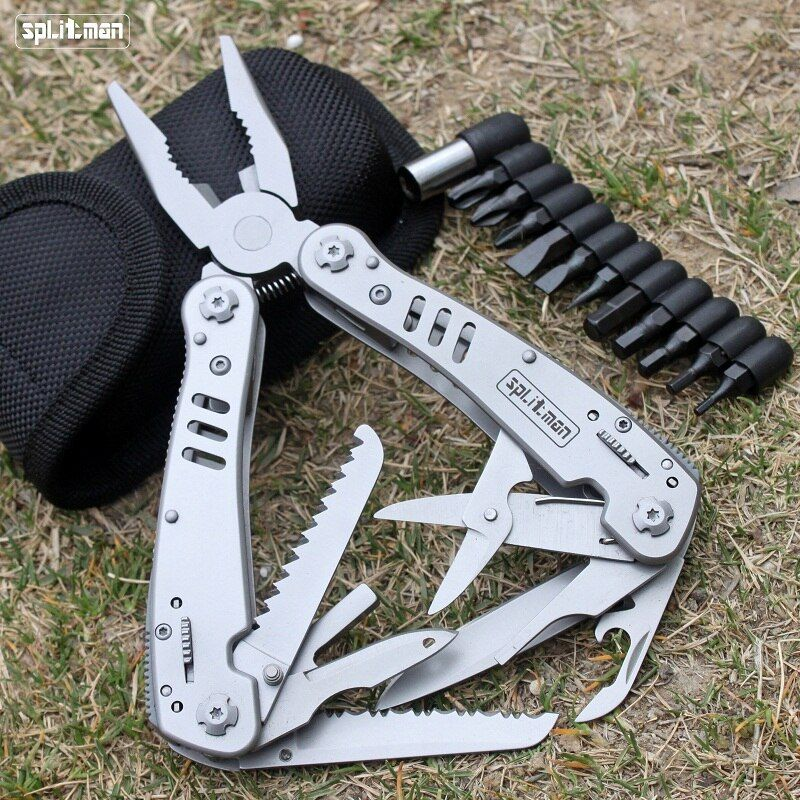 G301 MultiTool Folding Plier Fishing Pocket Tools Plier Multifunctional Camping Outdoor Survival EDC Pliers Scissors Screwdriver