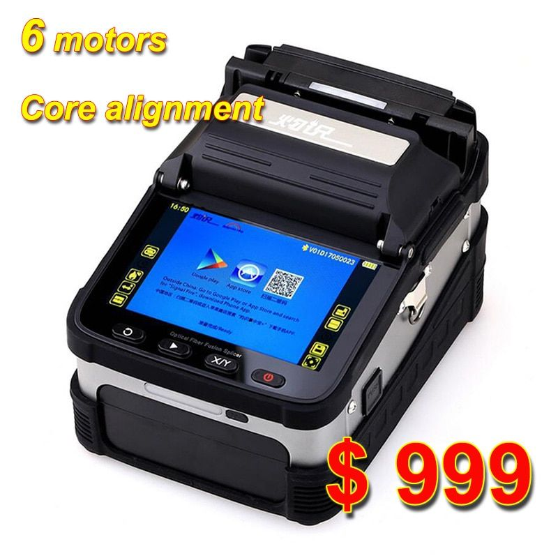 SM & MM Automatische FTTH Fiber Optic Setzmaschine Optical Fiber Fusion Splicer AI-7