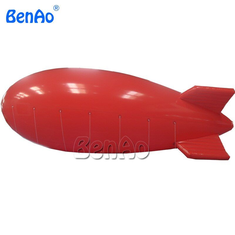 HB05 BenAo 8m Hot Sale Outdoor Commercial Custom Inflatable Zeppelin Helium Balloon / Red Inflatable Advertising blimp/air ship