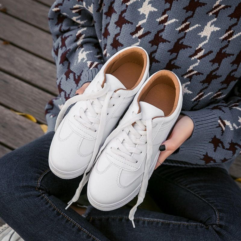 Small Spring New Pattern Tide Student Han Banbai Take The With Thick Soles Casual Street Woman Shoes