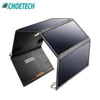 CHOETECH Солнечная Панель зарядное устройство Китай 24 Вт солнечная батарея зарядное устройство для iPhone USB порт портативный аккумулятор Char для ...
