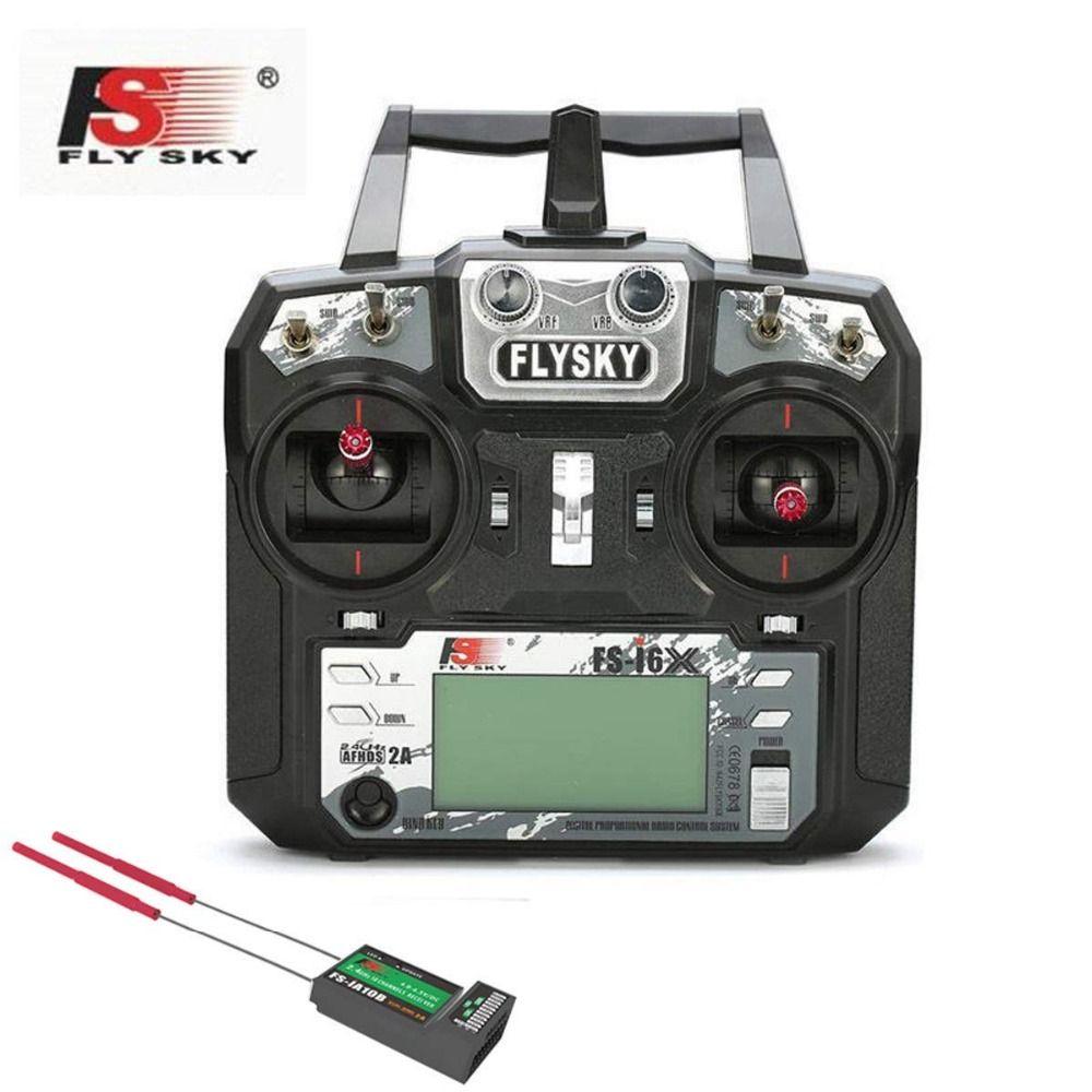 Flysky FS-i6X 2.4GHz 10CH AFHDS 2A RC Transmitter With X6B iA6b i-BUS Receiver For Rc Airplane Fox FS-i6X receiver with IA6B rec
