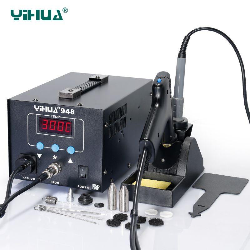 YIHUA 948 220V 110V Digital SMD Soldering Iron Station High Quality Suction Tin Gun Handle Rework Station Welding
