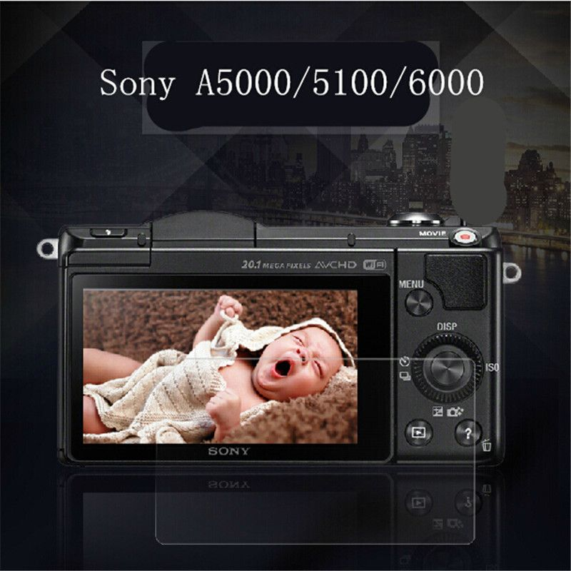Anti-Scratch Dust Proof Clear Tempered Optical Glass LCD Screen Waterproof Film Protector for SONY A5000 6000  5100