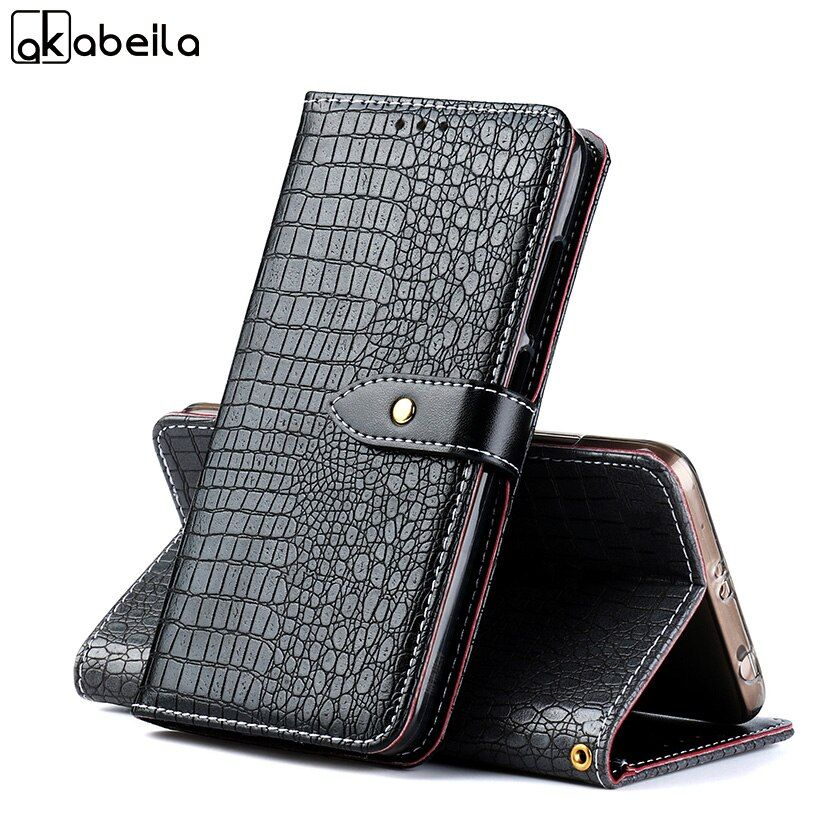 AKABEILA Luxury Crocodile Leather Cases For DOOGEE Y6 MAX Covers Wallet Case Housing For DOOGEE Y6 MAX 3D 6.5 inch Case