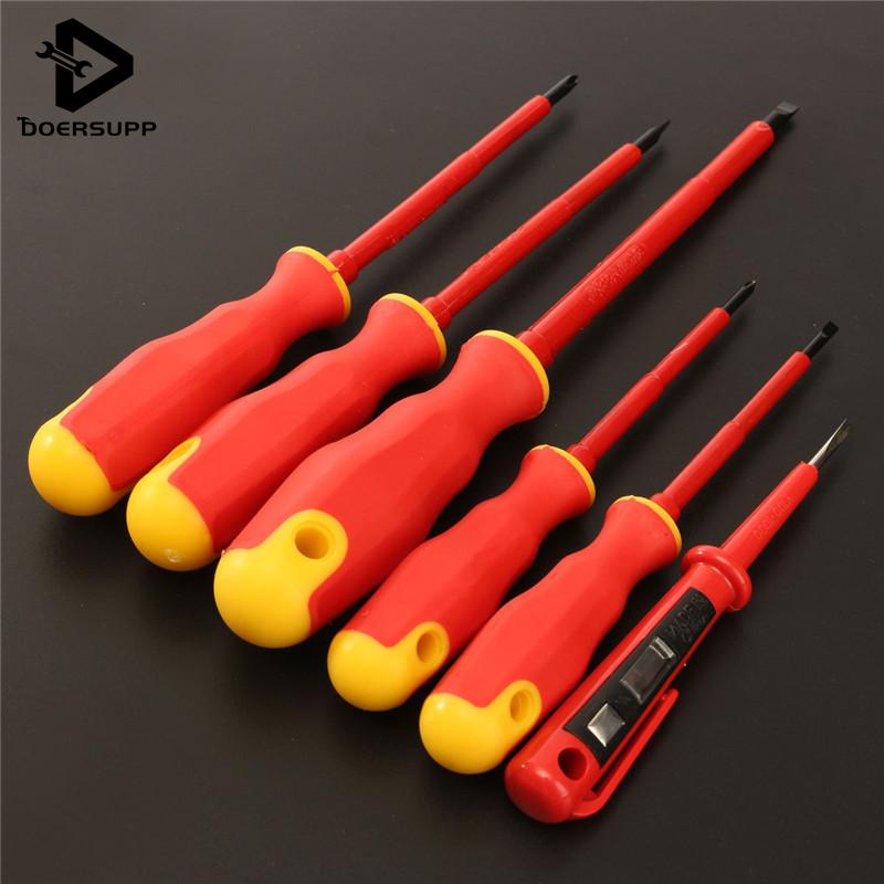 Pratique 6 pièces un ensemble VDA électriciens tournevis ensemble électrique isolé Kit outils à main Top qualité