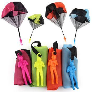 5 компл.. дети рука бросали парашют игрушки для детей образовательный парашют с фигурой Солдат открытый весело Спорт играть в игру