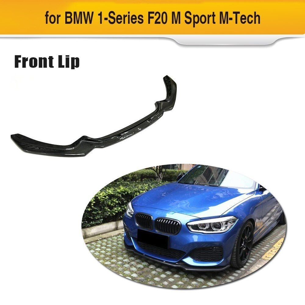 Carbon Fiber Car Front Bumper Lip Spoiler Apron for BMW F20 M Sport 120i Hatchback 2 Door 4 Door 2016 2017 2018