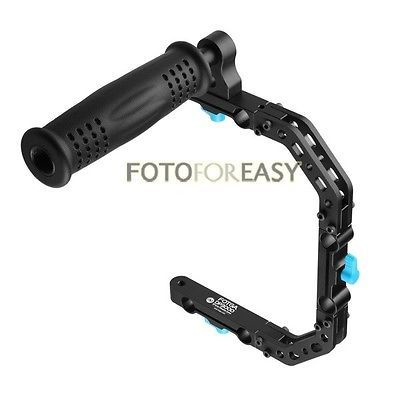 FOTGA DP3000 C-Forme de Soutien Cage Support + Top Handle Grip pour 15mm Rod DSLR Rig