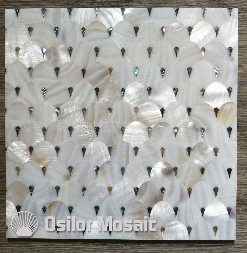 Abalone shell and Chinese freshwater shell mother of pearl tile for interior house decoration wall tile
