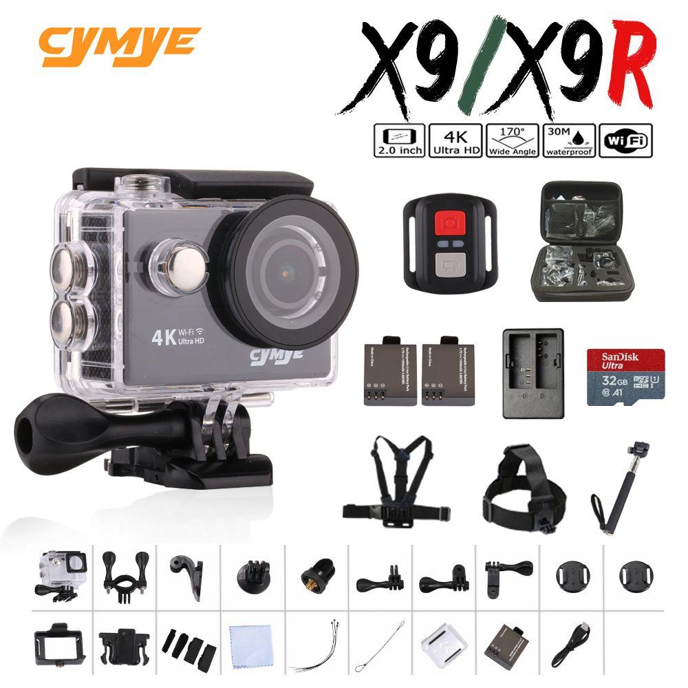 Cymye action camera X9 / X9R Ultra HD 4K WiFi 1080P <font><b>60fps</b></font> 2.0 LCD 170D