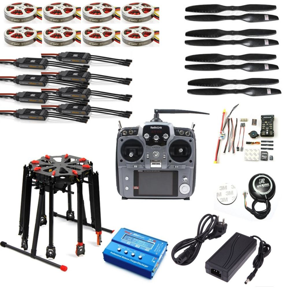 Pro 2.4G 10CH RC 8-Axle Octocopter Drone Tarot X8 Folding PIX PX4 M8N GPS ARF/PNF DIY Unassembly Kit Motor ESC