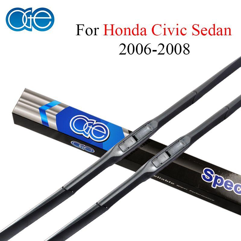 Oge Pair 26''+24'' Wiper Blades For Honda Civic Sedan 2006 2007 2008 Windscreen Windshield Rubber Car Auto Accessories