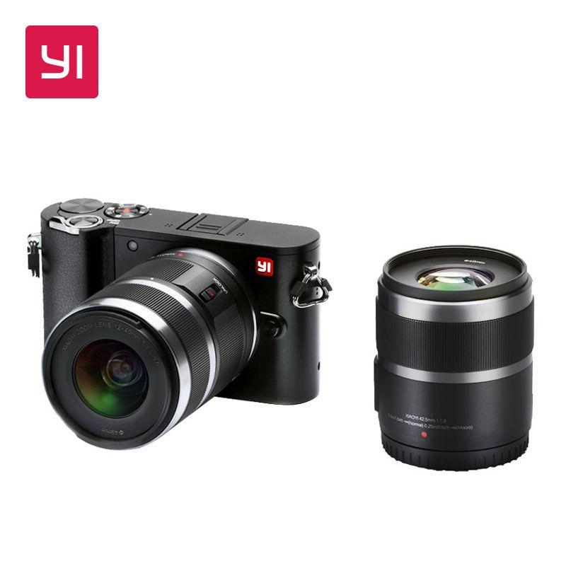 YI M1 Mirrorless Digital Camera Prime Zoom Two Lens LCD Minimalist International Version RAW 20MP Video Recorder 720RGB