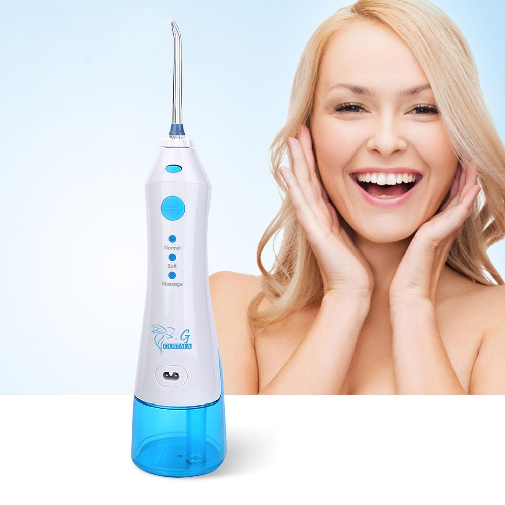Gustala 220ml Cordless Portable Dental Flosser Oral Hygiene Dental Care Irrigation Power Floss Water Jet SPA Tooth Cleaning