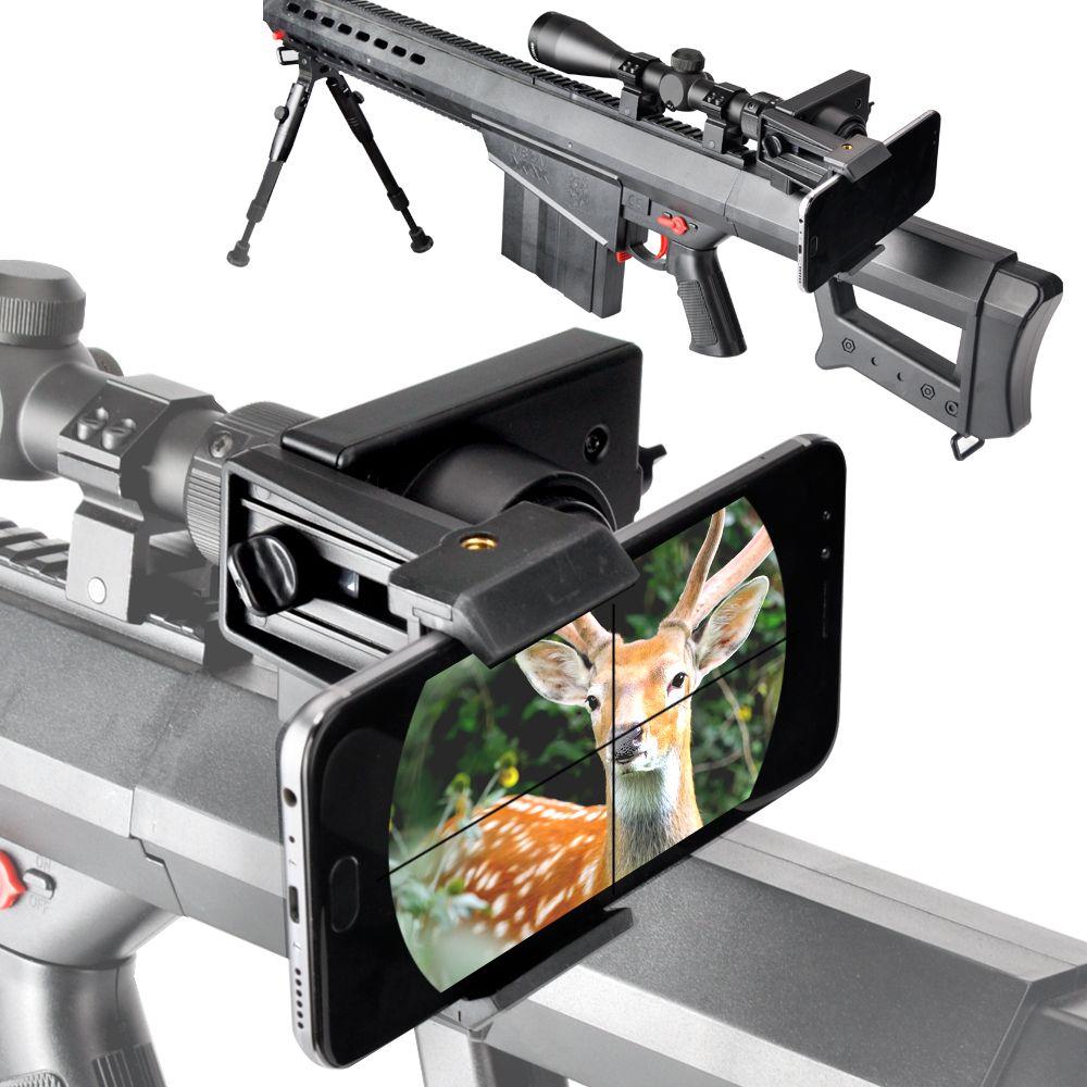 Portée de fusil système de montage Smartphone-adaptateur de montage de portée de tir intelligent pour les portées de fusil (plastique Durable)